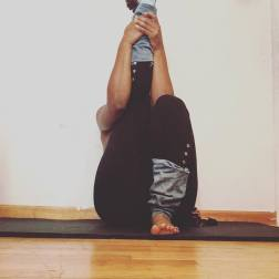 Head to knee forward bend variation